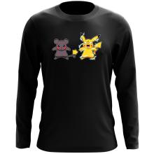 T-Shirt à manches longues  parodique Pikachu mode Super Saiyan : Super Sourijin !! (Parodie )