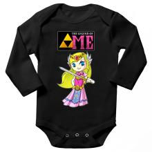 Body bébé manches longues  parodique La Princesse Zelda : The Legend of...ME ! (Parodie )