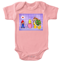 Body bébé (Filles)  parodique Super Mario, Princesse Peach et Bowser : Un coeur brisé ! (Parodie )