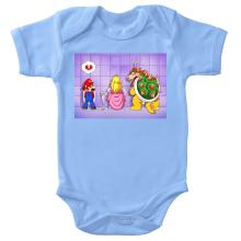 Body bébé  parodique Super Mario, Princesse Peach et Bowser : Un coeur brisé ! (Parodie )