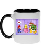 Mugs  parodique Super Mario, Princesse Peach et Bowser : Un coeur brisé ! (Parodie )