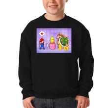 Pull Enfant  parodique Super Mario, Princesse Peach et Bowser : Un coeur brisé ! (Parodie )