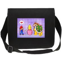 Sac bandoulière Canvas  parodique Super Mario, Princesse Peach et Bowser : Un coeur brisé ! (Parodie )