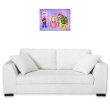Sticker Mural  parodique Super Mario, Princesse Peach et Bowser : Un coeur brisé ! (Parodie )