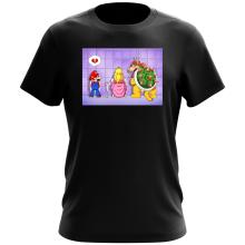 T-shirt  parodique Super Mario, Princesse Peach et Bowser : Un coeur brisé ! (Parodie )