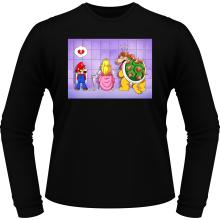 T-Shirts à manches longues  parodique Super Mario, Princesse Peach et Bowser : Un coeur brisé ! (Parodie )