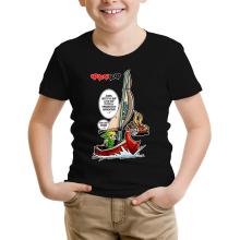 T-shirt Enfant  parodique Link - The Wind waker : Un elfe à la mer.... :) (Parodie )