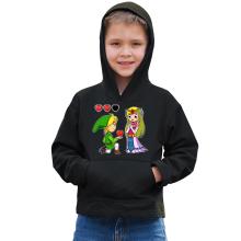 Sweat à capuche Enfant  parodique Link et la Princesse Zelda : Un héros offrant son coeur à sa belle princesse... (Parodie )