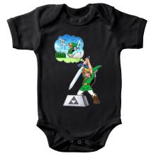 Body bébé  parodique Link et Excalibur : Une épée bien mal exploitée... ^^ (Parodie )