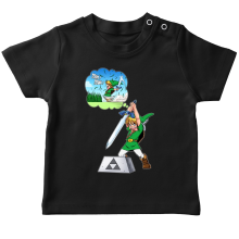 T-shirt bébé  parodique Link et Excalibur : Une épée bien mal exploitée... ^^ (Parodie )