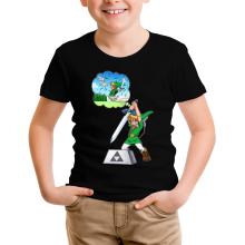 T-shirt Enfant  parodique Link et Excalibur : Une épée bien mal exploitée... ^^ (Parodie )