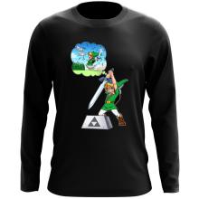 T-Shirt à manches longues  parodique Link et Excalibur : Une épée bien mal exploitée... ^^ (Parodie )