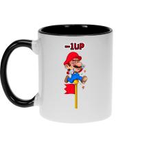 Mugs  parodique Mario : - 1 UP !! (Parodie )