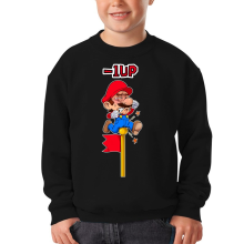 Sweat-shirts  parodique Mario : - 1 UP !! (Parodie )