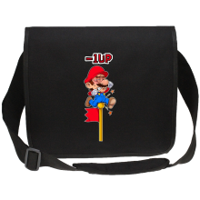 Sacs bandoulière Canvas  parodique Mario : - 1 UP !! (Parodie )