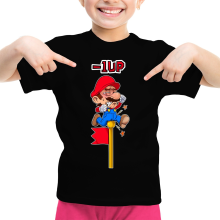 T-shirts  parodique Mario : - 1 UP !! (Parodie )