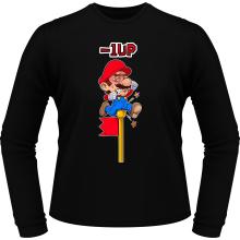 T-Shirts à manches longues  parodique Mario : - 1 UP !! (Parodie )
