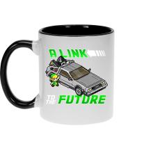 Mug  parodique Link et la Delorean : A Link to the Future ! (Parodie )