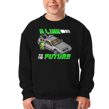 Sweat-shirts  parodique Link et la Delorean : A Link to the Future ! (Parodie )
