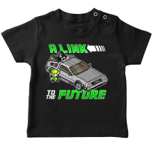 T-shirts  parodique Link et la Delorean : A Link to the Future ! (Parodie )