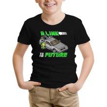 T-shirt Enfant  parodique Link et la Delorean : A Link to the Future ! (Parodie )
