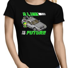 T-shirts Femmes  parodique Link et la Delorean : A Link to the Future ! (Parodie )