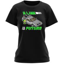 T-shirt Femme  parodique Link et la Delorean : A Link to the Future ! (Parodie )