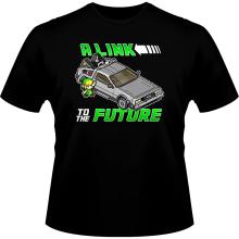 T-shirts  parodique Link et la Delorean : A Link to the Future ! (Parodie )