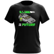 T-shirt  parodique Link et la Delorean : A Link to the Future ! (Parodie )