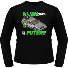 T-Shirts à manches longues  parodique Link et la Delorean : A Link to the Future ! (Parodie )
