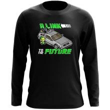 T-Shirt à manches longues  parodique Link et la Delorean : A Link to the Future ! (Parodie )