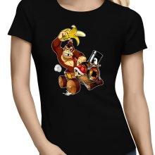 T-shirts Femmes  parodique Donkey Kong : Kart Fighter - Player 4 (Parodie )