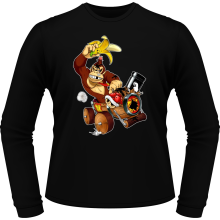 T-Shirts à manches longues (French Days)  parodique Donkey Kong : Kart Fighter - Player 4 (Parodie )