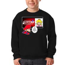 Sweat-shirts  parodique Mario et la Princesse Peach : Alerte enlèvement... (Parodie )