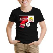 T-shirts  parodique Mario et la Princesse Peach : Alerte enlèvement... (Parodie )