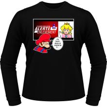T-Shirts à manches longues  parodique Mario et la Princesse Peach : Alerte enlèvement... (Parodie )