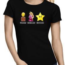 T-shirts Femmes  parodique Princesse Peach et l