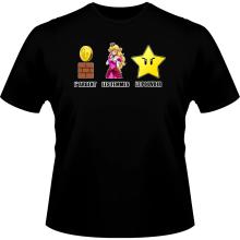 T-shirts  parodique Princesse Peach et l