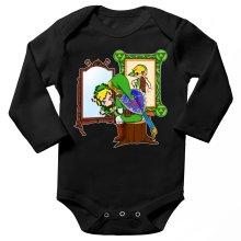 Body bébé manches longues  parodique Link : Autoportrait de héros... (Parodie )