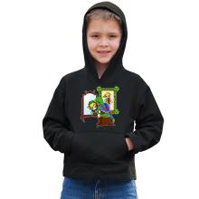Sweat à capuche Enfant  parodique Link : Autoportrait de héros... (Parodie )
