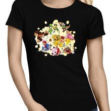 T-shirts Femmes  parodique Mario, Link, Fox, Bowser, Pikachu et Wario : Baston Générale à la sauce gauloise (Parodie )