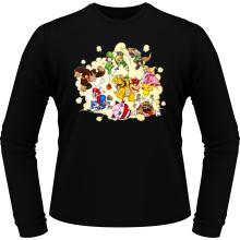 T-Shirts à manches longues  parodique Mario, Link, Fox, Bowser, Pikachu et Wario : Baston Générale à la sauce gauloise (Parodie )