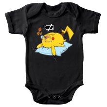 Body bébé  parodique Pikachu : Batterie Off - ZZZZ (Parodie )