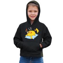Sweat à capuche Enfant  parodique Pikachu : Batterie Off - ZZZZ (Parodie )