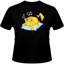 T-shirts  parodique Pikachu : Batterie Off - ZZZZ (Parodie )