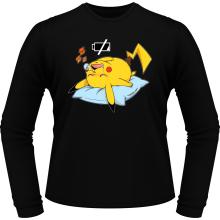 T-Shirts à manches longues (French Days)  parodique Pikachu : Batterie Off - ZZZZ (Parodie )