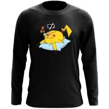 T-Shirt à manches longues  parodique Pikachu : Batterie Off - ZZZZ (Parodie )