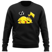 Funny Sweatshirts - Pikachu - Battery Off ( Parody)