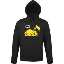 Sweat à capuche  parodique Pikachu : Batterie à plat ! (Parodie )