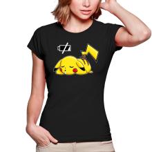 T-shirts Femmes  parodique Pikachu : Batterie à plat ! (Parodie )
